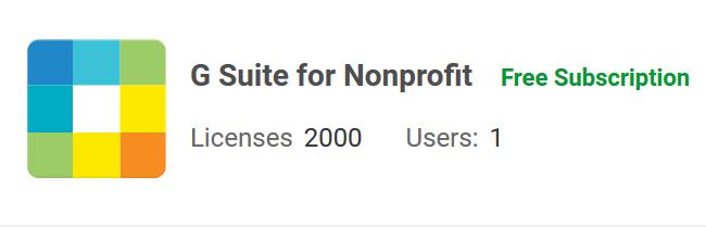 2,000 User Google Apps Non Profit Account