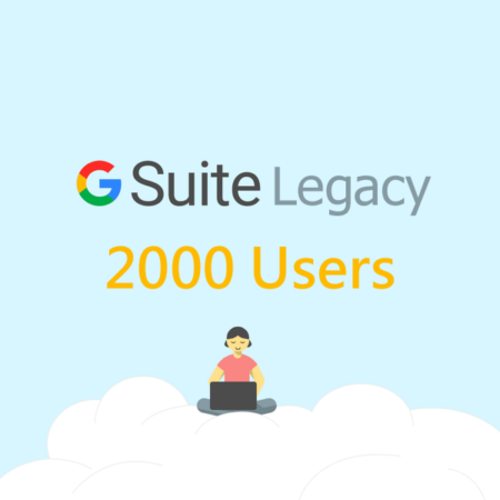 2000 User Google Apps Standard Edition Account