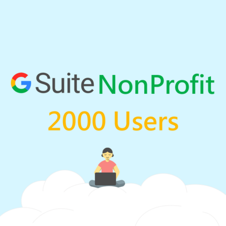 2,000 User Google Apps Non Profit Account